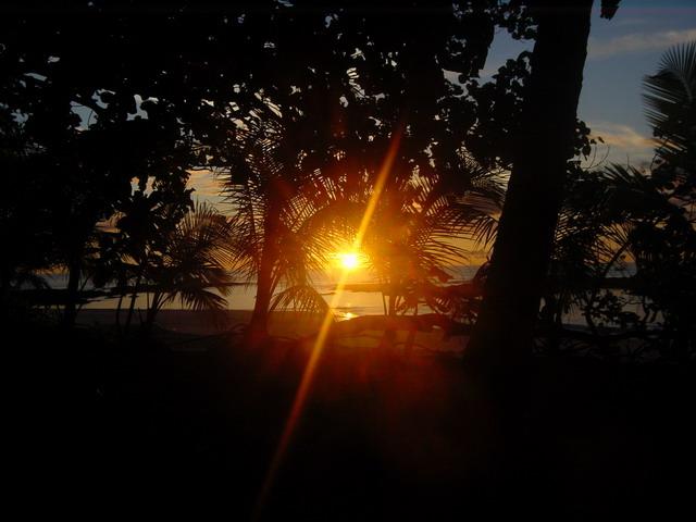 Sunset von der Terasse aus