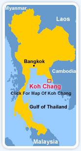 Lage von Ko Chang in Thailand